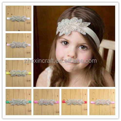 infant babies crystal stone headbands clear crystal headbands in stock made n China Wholesale