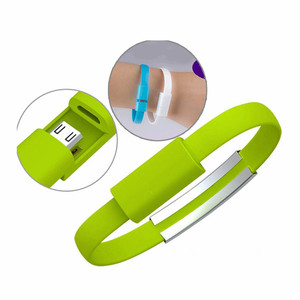 Fashion Wristband USB Cable Bracelet Micro USB Charger Charging Data Sync USB Cable for Samsung Smartphones