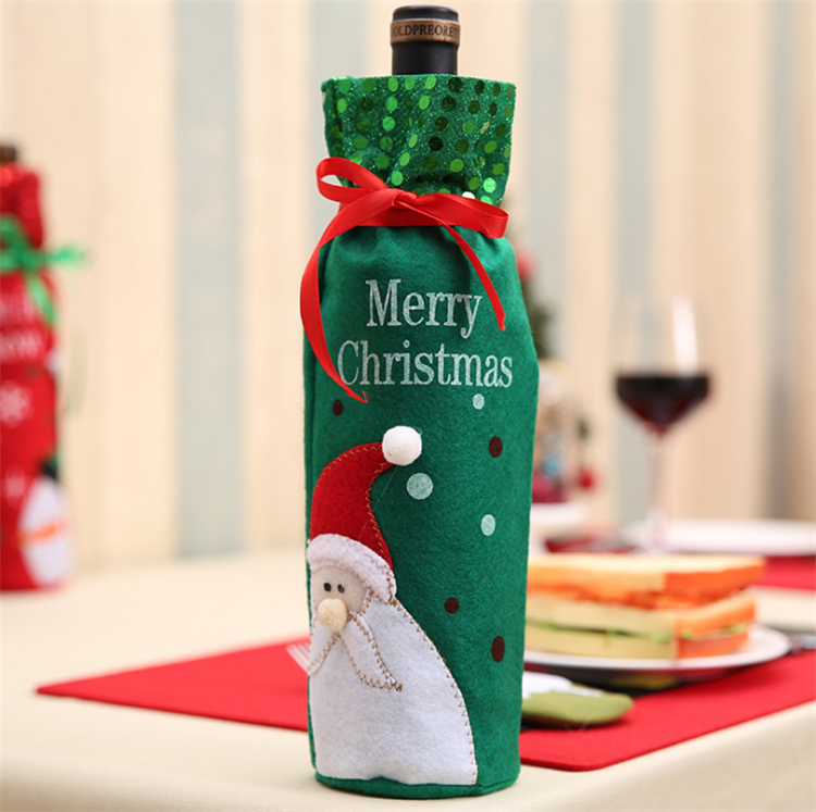 wine bottle ornament christmas glass ornaments