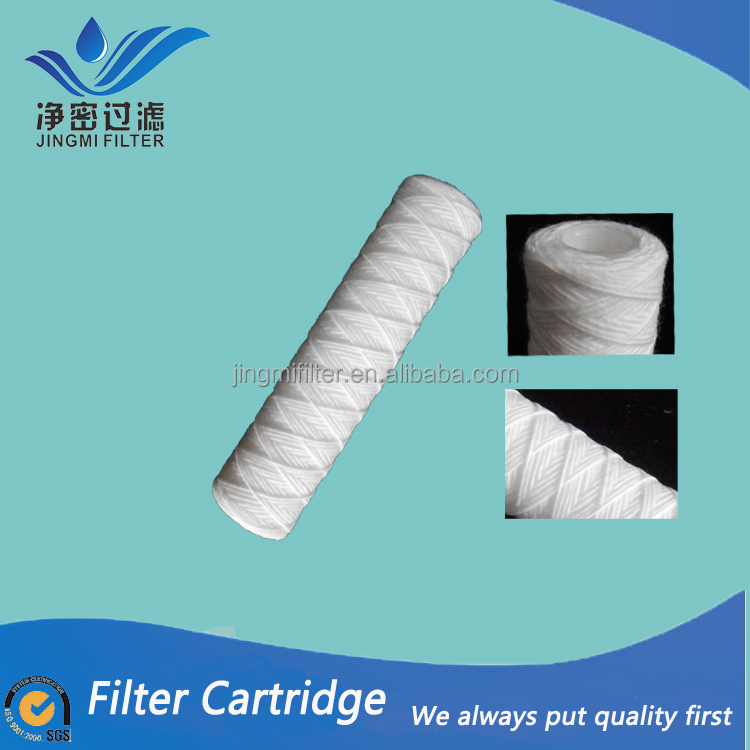 pp string wound filter cartridge /40 inch 5 micron PP yarn filter cartridge for sediment filter
