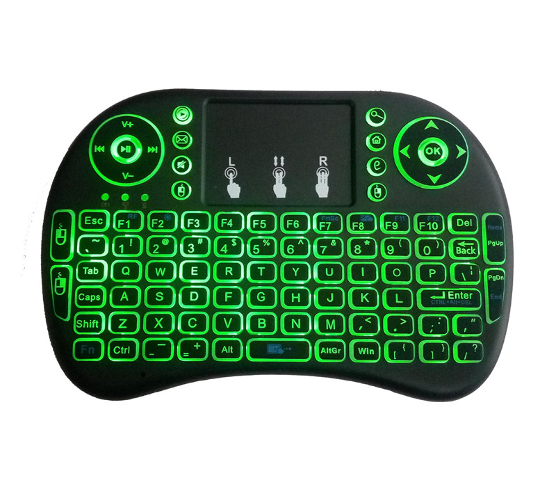 I8 Backlit 2.4GHz Mini Wireless Keyboard Fly Air Mouse with Touchpad remote controller for Tablet PC Android TV