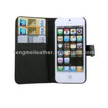 Leather Case With Credit Card Holder For iPhone5 5S, For iPhone5 5S Folding Smart Cases Cover