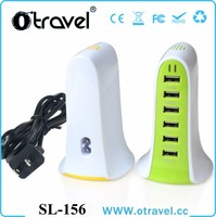 New arrival multi port usb chargers 6 Ports USB Desktop Charging Station Wall Charger,US EU AUS UK plug cord