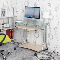2015 hot sale home office glass computer desk