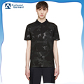 Custom all over digital 3d printing camouflage 100% cotton pique polo shirts for men