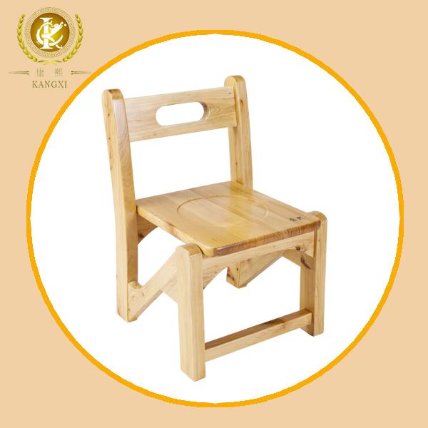 Natural de color simple silla de madera para los ni os for Sillas para ninos de madera