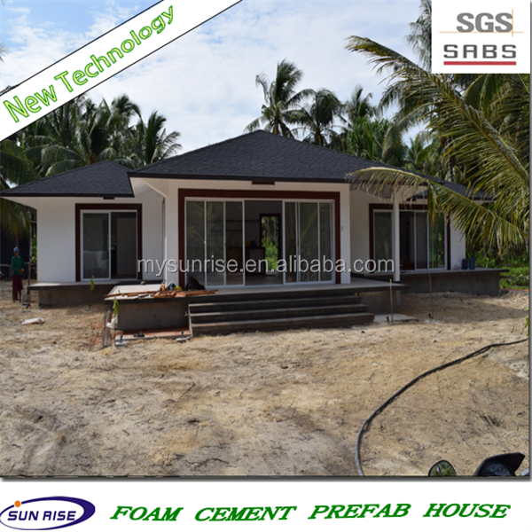 SGS 2016 new technology fast installation foam concrete prefab house design