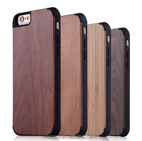 Channel phone case wooden blank case with pc for iphone 6 slim case.