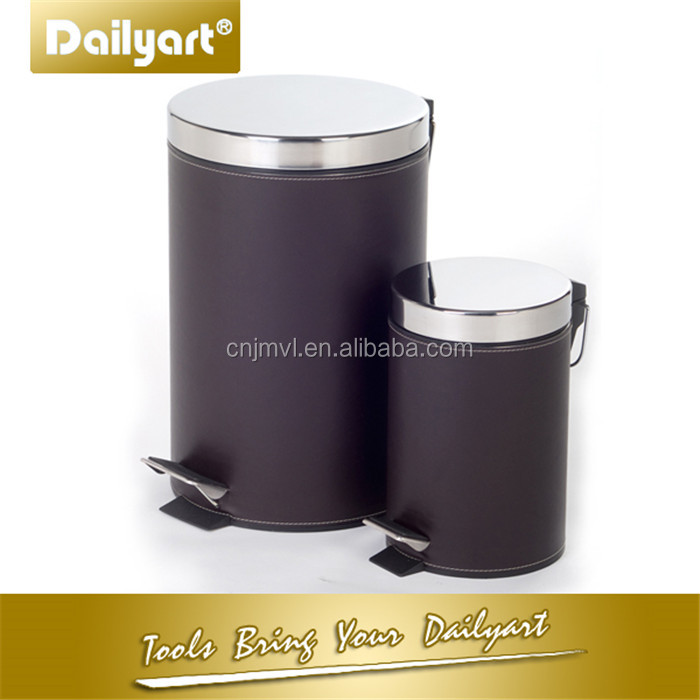 Slide out leather garbage bin(V012023 5L)