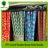 manufacturer pvc cover wooden brush pole