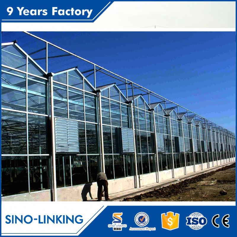 Low cost modular economial glass greenhouse for flower