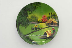 lacquer painting dish a nice gift for home decoration country painting