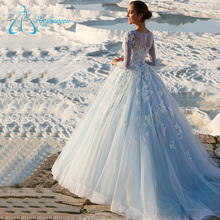 2017 Court Train Sequined Beading Button Alibaba Wedding Dress