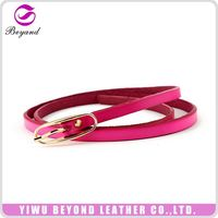 Garment accessories attractive style strong leather belt for women from manufacturer