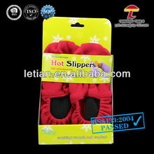 red slippers microwavable wheat bag