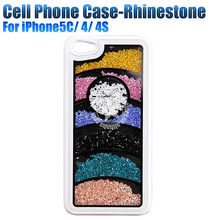 Rhinestone Mobile Phone Case For iPhone 5c 4 4s China Manufacturer