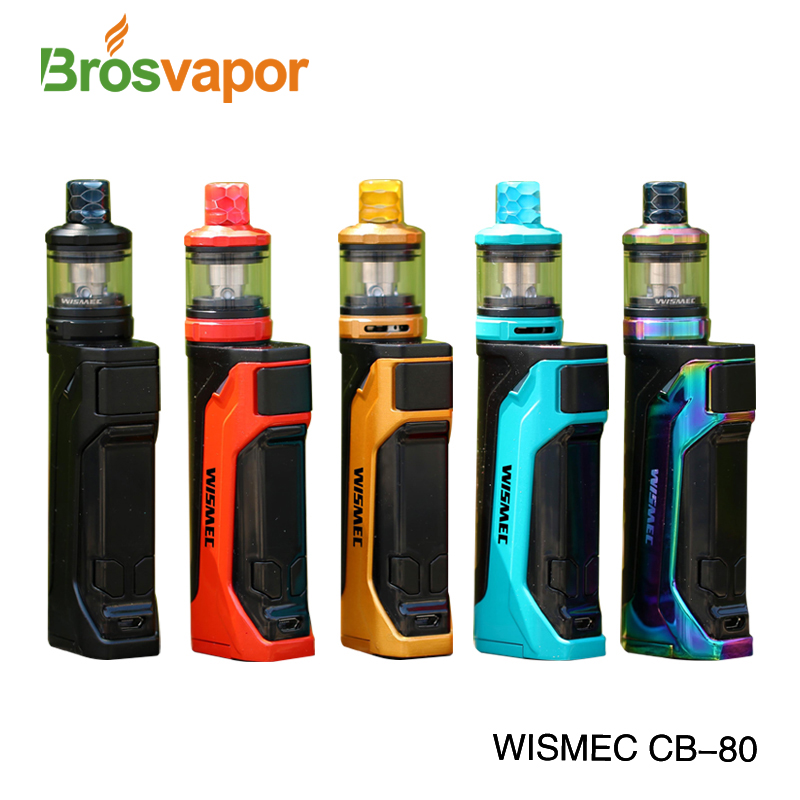 New WISMEC CB-80 Kit 80W CB-80 Battery Mod Vape with AMOR NS Pro Tank 1.3ohm fast shipping from Brosvapor