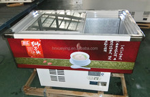 small glass lid chest freezer