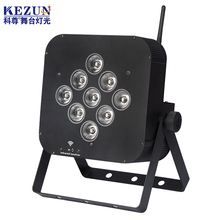 Wireless battery rechargeable rgbw 12w led stage par 9 can light for wedding decoration