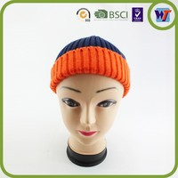 2015 new fashion designer cap beautiful knitted hat with top ball crocheted hat
