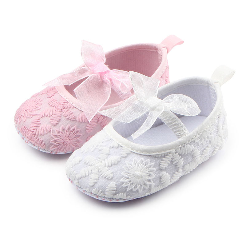 Cute Baby Infant Kids Girl Soft Sole Crib Toddler Butterfly-knot Newborn Shoes L