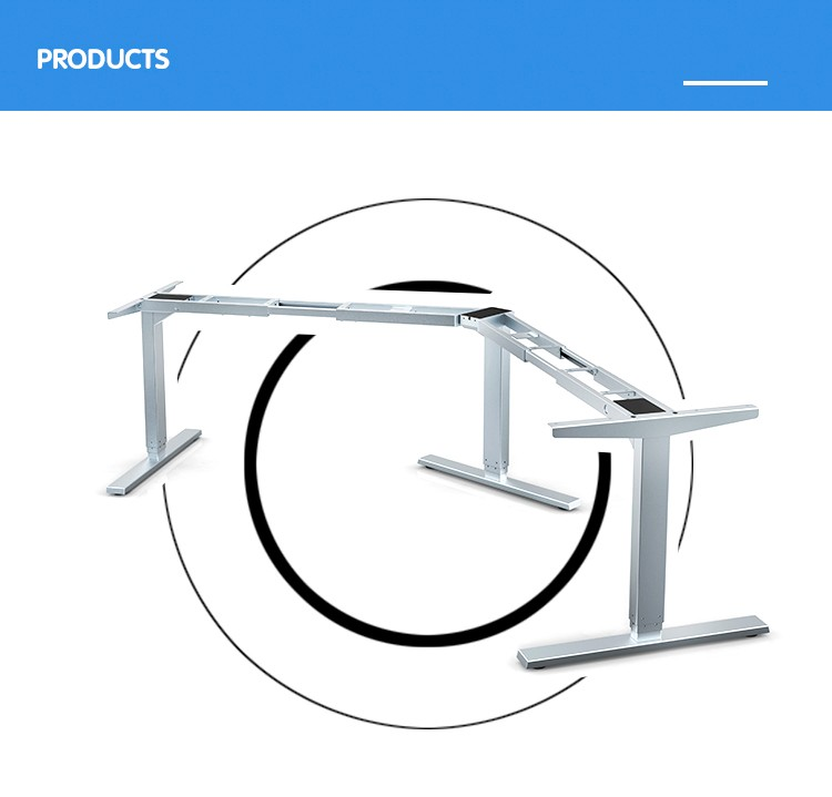 Jiecang JC35TT-RS3-120 three table feet 120 degrees office electric Lift table frame manufactory The boss office lifting table