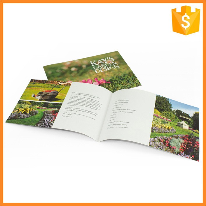 Folding handmade printing sample school brochures with competitive price