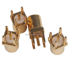 Gold plated brass PTFE insulator straight MMCX female PCB connector