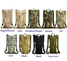 Durable strong 600D camo 3L cycling hydration backpack, water bag, military tactical hydration back pack with water bladder