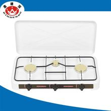 3 burner Commercial kitchen competitive price luxury portable natural gas stove