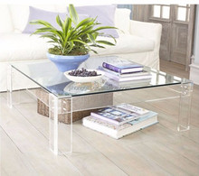 hot sale Clear acrylic end square wedding coffee table
