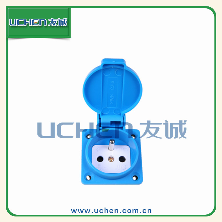 16A 250V French Waterproof industrial receptacle socket outlet