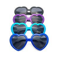 Logo manufacturer rave glasses heart shape plastic custom sunglasses 2017 DLC9018