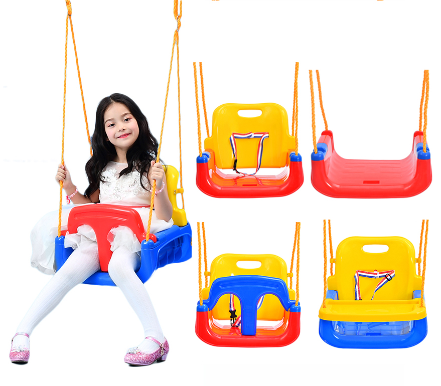 cheap high quality plastic outdoor hanging baby swing chair