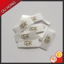 Wholesale Gold Foil Custom Brand Printed Garment Label
