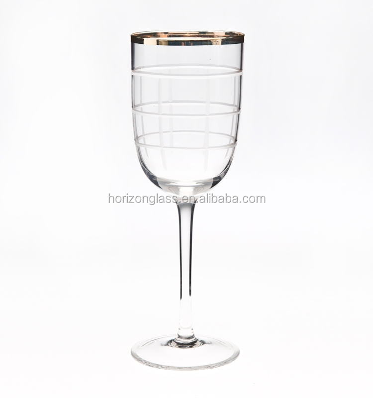 Crystal Gold Rim Red Wine Glass