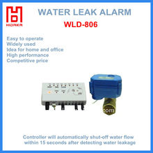 Home alarm System for Wired Water Leak Detector Alarm with water leak stop