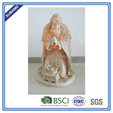 promotion jesus sculpture craft nativity decoration with light