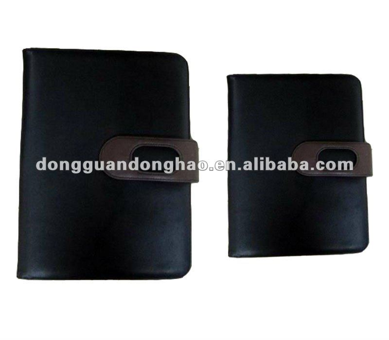 2012 Hot sell handmade leather agenda with stripe