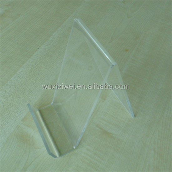 clear small single cell phone holder rack acrylic mobile phone display stand