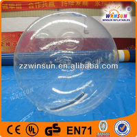 2013 customized 1.0mm TPU material 2m diameter clear water ball with logo for sale