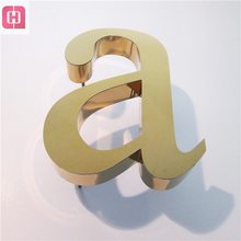Wall Mount Channel Letter advertising Stainless Steel letters 3d signs metal letters and numbers