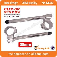 Street Bike 48mm Billet Racing Clipons Risers Clip-On Handlebars For KTM 990 Super Duke
