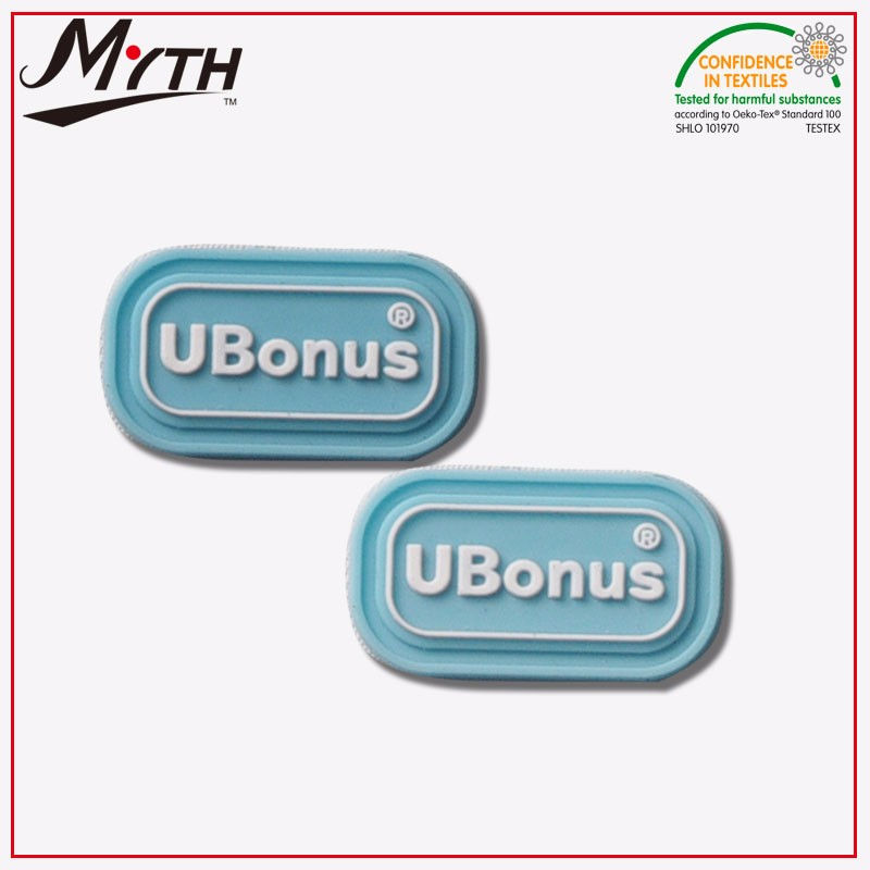 custom factory shoes silicone rubber logo bag PVC patch logo for sale