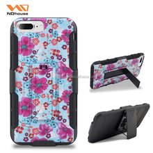 For Apple iphone 7plus mobile case best seller rubber printing holster case