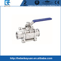 Food Grade Tri-clamp Forged Stainless Steel 3 Piece Ball Valves