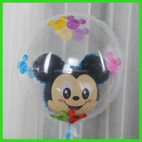 mickey mouse foil transparent balloon with balloon inside