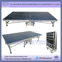 portable wooden platform collapsible stage