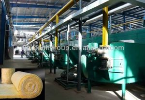 centrifuge glass wool roll blanket production line