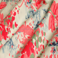 Fancy Design Floral Polyester Cotton Printed Satin Fabric With Spandex For Garments